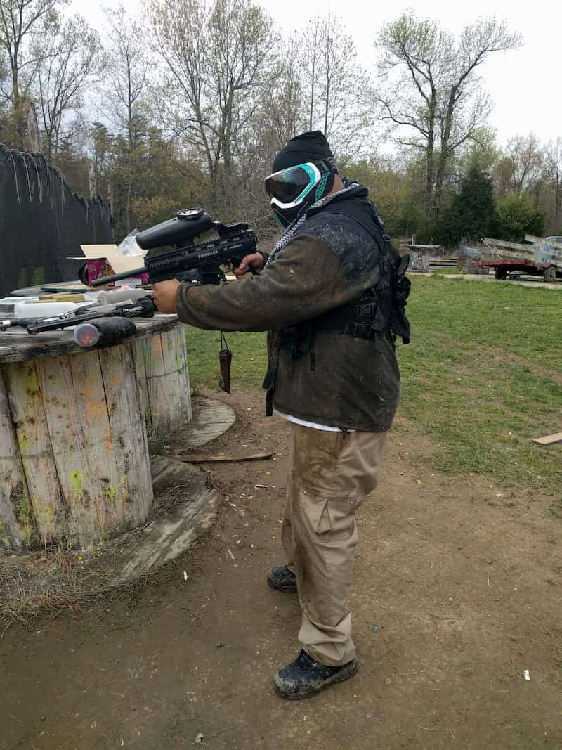 paintball parties player