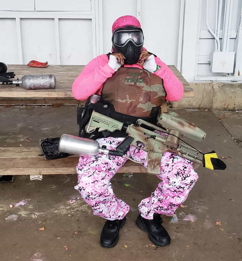 weekend paintball player