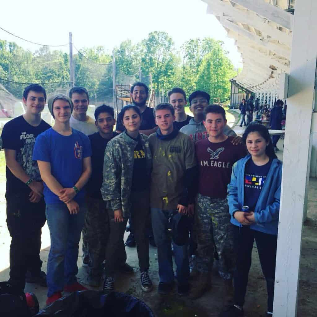 teen youth group paintball party