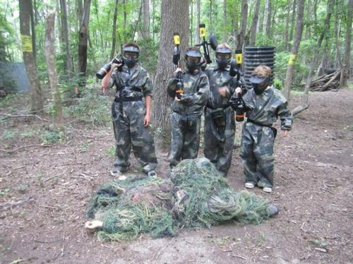 paintball field in woods near DC