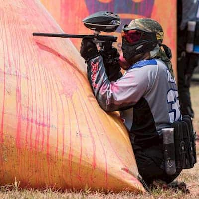 paintball player on field at SMP