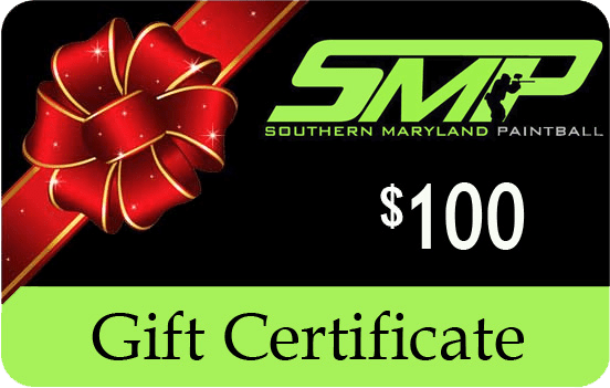 $100 Paintball Gift Certificates